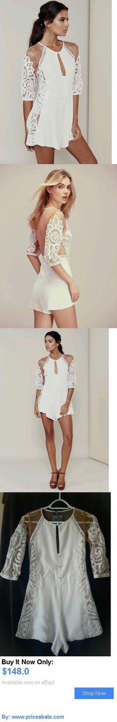 Jumpsuits And Rompers: For Love And Lemons Valentina Romper In White Size M BUY IT NOW ONLY: $148.0 #priceabateJumpsuitsAndRompers OR #priceabate