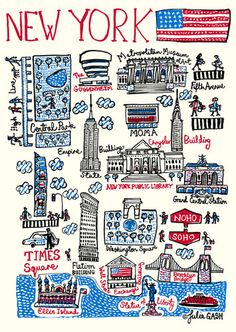 New York Cityscape by Julia Gash - art print from King & McGaw