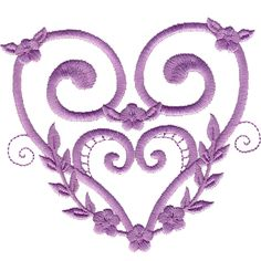 Free Embroidery Design: Satin Heart