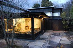 Momogusa cafe|百草カフェ 中村好文 Dark Trim, My Property, Modern House Design, House Painting, Black House, Interior Architecture, Tiny House, Architects, Facade