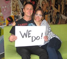 Mike McCready (Pearl Jam) and his lovely wife Ashley. Supporters of marriage equality in Washington State.