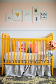 yellow crib