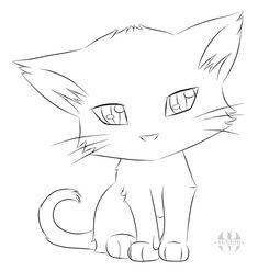 Cute Cartoon Drawling Of A Cat - Kinder Garten - ; niedliche cartoon-zeichnung einer katze - kindergarten - Cute Cartoon Drawling Of A Cat - Kinder Garten - ; Cute Drawings Tumblr, Tumblr Art, Cute Cartoon Drawings, Animal Drawings, Easy Pencil Drawings, Simple Drawings, Drawings Of Cats, Easy Dragon Drawings, Pencil Drawings For Beginners
