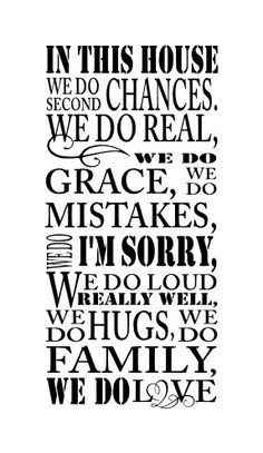 in this house we do second chances  wall vinyl decal by glassden, $20.00