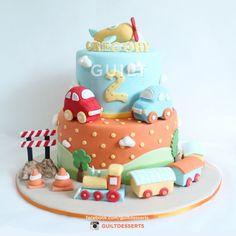 Transportation Themed Cake Guilt Desserts ~ Satisfy Your Guilty Pleasures ~ http://www.facebook.com/guiltdesserts