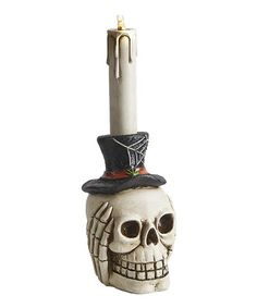 Take a look at this Flickering Light-Up Skeleton Taper by GANZ on #zulily today!