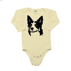 Border Collie Baby Bodysuit, Border Collie Gifts, Organic Baby Clothes, Baby Onepiece For Girls And Baby Shower Gifts, Baby Gifts, Berlin, Baby Leggings, Organic Baby Clothes, Border Collie, Baby Bodysuit, Baby Wearing, Black Print