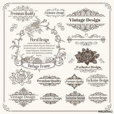 Vector: Vintage Vector Design Elements Collection.