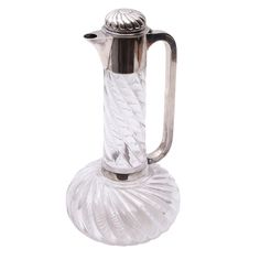 Jugs Victorian Cut Glass And Sterling Silver Mounted Claret Jug By Hukin And Heath Driving A Roaring Trade Modern (1900-now)