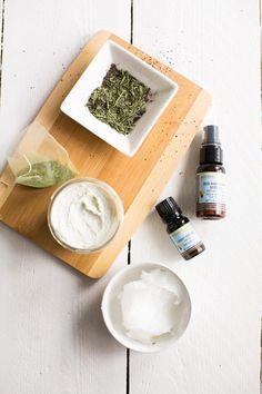 Homemade Sunscreen with Green Tea + Coconut Oil