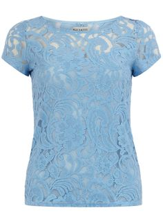 Baby blue lace t-shirt. Dorothy Perkins. $35