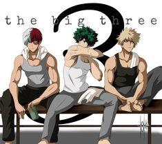 The future big three after training Hero Daddy, Cute Anime Guys, Heroic, My Hero Academia Episodes, My Hero, Hero Academia Characters, Anime Characters, Boy Art, Manga