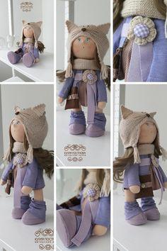 Winter doll Tilda doll Art doll handmade от AnnKirillartPlace