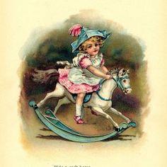 Victorian era public domain children's illustration
