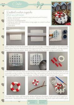 Learn how to make your very own life buoy Anchor themed cupcake using the Cake Crafting Anchor stencil with this step-by-step tutorial. This will tell you exactly what you need and each step required to stencil and make your own embellishments. All products can be found on www.cakecrafting.co.uk