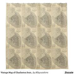 Vintage Map of Charleston South Carolina (1844) Shower Curtain