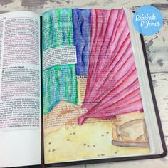 Bible Art Journaling Challenge Week 12 - Inktense Pencils with free download of the artwork