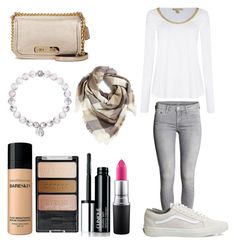 """""""Saturday, I love you"""" by bethanymotaislife-1 ❤ liked on Polyvore featuring Coach, BP., H&M, Vans, Michael Kors, Bare Escentuals, Wet n Wild, Clinique and MAC Cosmetics"""