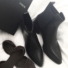 "FINAL SALE❤️Vince Booties Vince ""yarmon"" Chelsea boots in black. Lightly worn. Great condition. 1.25in heel. Comes with box & dust bag. Worn 2-3 times only. Size 6.5 us 37 eu. Fits like 7. Vince Shoes Ankle Boots & Booties"