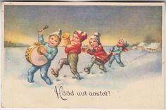 Õnnitlus; väikesed moosekandid; postkaart enne 1940