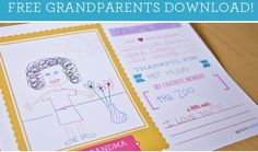 Free Grandparent's Day Printable! #Free #Grandparents #Gifts