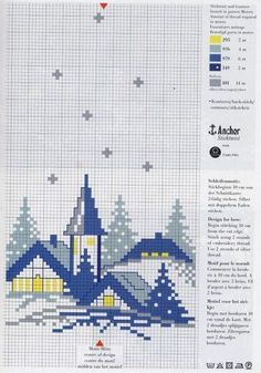 Schema punto croce Case-natale-2
