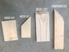 Woodworking Miter Saw Read this before you use a Miter saw! Types of miter saw cuts plus all the details about how to use a miter saw. Great beginner guide to the miter saw. Woodworking For Kids, Woodworking Joints, Woodworking Patterns, Woodworking Workshop, Woodworking Techniques, Easy Woodworking Projects, Popular Woodworking, Woodworking Furniture, Woodworking Plans