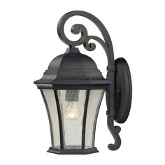Wellington Park 1 Light Outdoor Sconce In Weathered Charcoal 45051/1