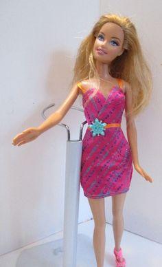 Barbie doll Long Strawberry Blonde Hair BARBIE DRESS NEW PINK HIGH HEELS SHOES #Barbie