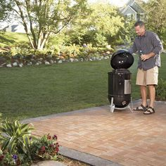 Renew an old concrete patio with decorative brick or concrete pavers. You don& have to remove the concrete. Here& how to do it quickly and easily.