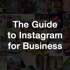 The Guide to Instagram for Business  The Guide to Instagram for Business is an in-depth tutorial on how Instagram works and how brands (including yours) can integrate it in their social marketing mix to increase their online reach and attract new business. In it, you'll find all the basics on getting started with Instagram, as well as recommendations on advanced campaigns that provide a meaningful experience for your Instagram community.