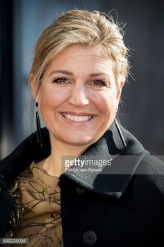 Queen Maxima of The Netherlands visits horticultural company Koppert Cress on March 7 2017 in Monster Netherlands The company is specialised in a...