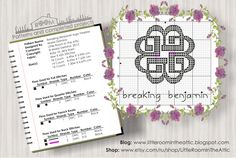 Little room in the attic by Maria Demina: Breaking Benjamin music band logo free cross stitch chart / pattern
