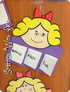 Beginning, Middle, End Traditional Stories, Traditional Tales, Kindergarten Literacy, Literacy Activities, Preschool, Fairy Tale Activities, Fairy Tales Unit, Fairy Tale Theme, Goldilocks And The Three Bears