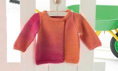 Heft Baby 56 Frühjahr / Sommer | 3: Baby Jacke | Rosé-Orange