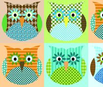 Owl fabric for baby boy