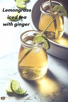The easy recipe of lemongrass iced tea with ginger for summers. Whats your summer thirst quencher ?   #lemongrass #icetea #summers #summerdrinks #foodphotography #beverages Almond Milk Recipes, Iced Tea Recipes, Fruit Drinks, Beverages, Non Alcoholic Drinks, Fruit Squash, Ice Cube Recipe, Shrub Recipe, Refreshing Drinks