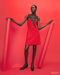 Ajak Deng photographed by Charlie Engman for Vouge Daily...