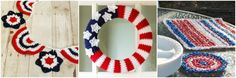 I always find myself admiring Lucy's crochet wreaths on Attic 24, like this one here and this one here, so I thought it would be fun to try a wreath crochet pattern of my own. With the 4th of July approaching, a patriotic wreath seemed the perfect idea. I love how it came out and am looking forward to making one for every holiday! Hope you enjoy it ...