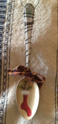 Antique Spoon Stocking Christmas Ornament by TheSpeckledRooster,
