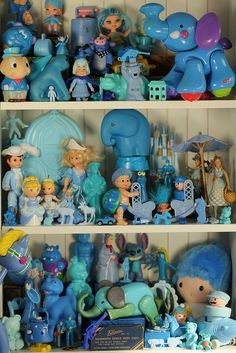 Blue Collection of Toys at Raining Rita Flickr PhotoStream