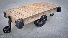 Original Vintage Industrial Factory Cart by brandMOJOinteriors, $750.00