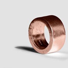 Trouwringen - Wheel Wedding Ring 14K Red Gold -Liat Waldman. - Een uniek product van liatwaldman op DaWanda