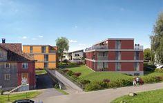 Visualisierungen Architektur: STOMEO Architektur Visualisierung - Zürich Style At Home, Mansions, House Styles, Home Decor, Architecture Visualization, Human Settlement, Real Estates, Floor Layout, Decoration Home
