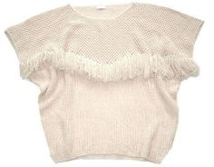 tops. RYAN ROCHE MADE IN NEPAL100 % CASHMEREFRINGE SWEATER