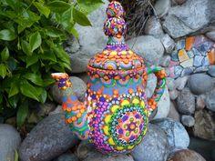 Fairytale Ceramic Teapot Goldilocks by CrazieHappy on Etsy, $145.00