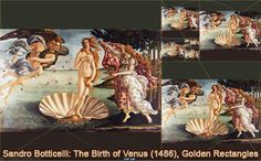 Boticelli: The Birth of Venus (c. 1486) and Golden Rectangles, Droste Effect