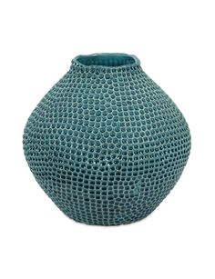 Classic and Contemporary Blue Isaac Short Crater Vase Home Decor Imax 64338 | Furniture, home decor, wall decor, rugs, lamps, lighting outlet.