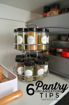 6 ways to organize your pantry. Ways to keep your home more clean and organized! 6 ways to organize your pantry. Ways to keep your home more clean and organized! Click The Link For See Recipe Organization, Pantry Organization, Organization Ideas, Glass Storage Jars, Jar Storage, House Is A Mess, Pantry Cupboard, Kitchen Interior, Organize