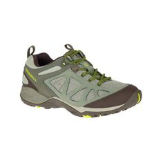Women's Merrell Siren Sport Q2 Hiking Shoe (135 CAD) ❤ liked on Polyvore featuring shoes, athletic shoes, green, athletic footwear, sports footwear, merrell athletic shoes, shock absorbing shoes and sports shoes